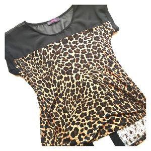 Open back leopard print top